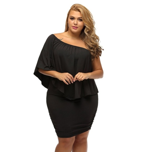 Plus Size Black Off Shoulder Dress Poshmark